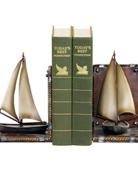 Pair Sailboat Bookends by