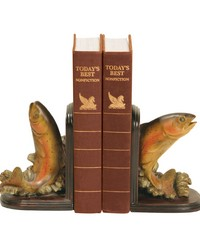 Pair of Rainbow Trout Bookends by