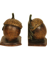 Pair of Muir Woods Acorn Bookends by