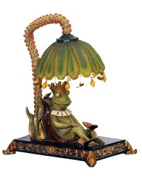 Sleeping King Frog Mini Lamp by