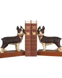 Pair Boston Terrier Bookends by