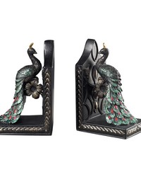 Peacock Bookends by