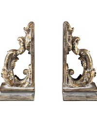 Florentine Scroll Bookends by