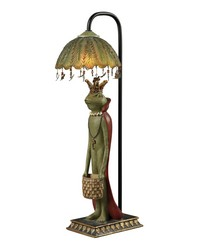 King Frog With Basket Accent Lamp by