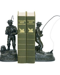 Pair Fish On Line Bookend by
