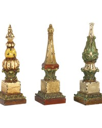 Set of 3 Sphere Tip Finials by