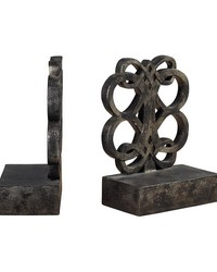 Bookends In Durand Bronze Finish by