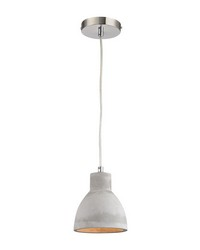 Brut 1 Light Pendant In Polished Concrete by