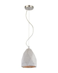 Tsar 1 Light Pendant In Polished Concrete by