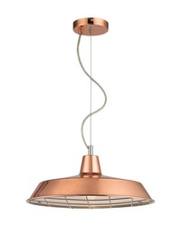Ajax 1 Light Pendant In Copper by