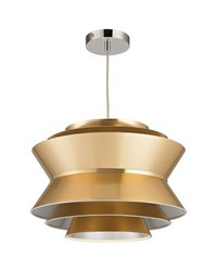 Godnik 1 Light Pendant In Gold by