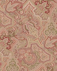 Beige Classic Paisley Fabric  Abacot 195 Vintage Linen