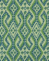 Green Navajo Print Fabric  Arusha 597 Bluegrass