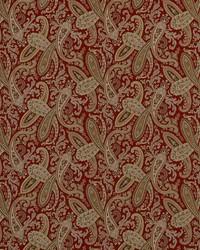 Red Classic Paisley Fabric  Ballard 353 Crimson