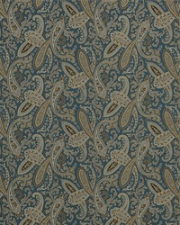Blue Classic Paisley Fabric  Ballard 5 Blue