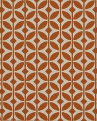 Circles and Swirls Fabric  Depeche Mode 340 Mandarin