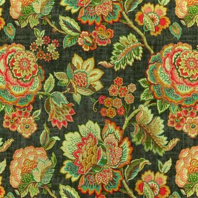 Covington Fabrics EGREMONT 949 CINDERSMOKE Jacobean Floral Fabric