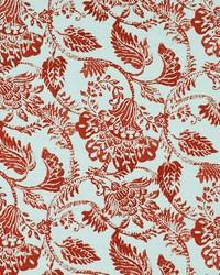 Jacobean Floral Fabric  Florence 328 Paprika
