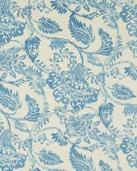 Jacobean Floral Fabric  Florence 501 Sky