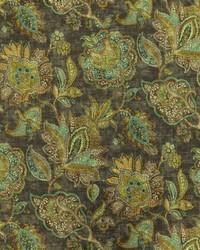 Jacobean Floral Fabric  Foligno 914 Stratosphere