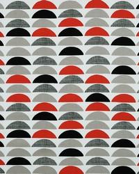 Red Circles and Swirls Fabric  Half Moon 353 Crimson Red