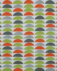 Circles and Swirls Fabric  Half Moon 382 Summer