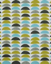 Grey Circles and Swirls Fabric  Half Moon 545 Mineral
