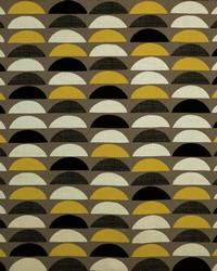 Brown Circles and Swirls Fabric  Half Moon 63 Taupe
