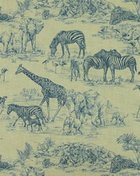 Jungle Safari Fabric  Jungle Love 517 Wedgewood