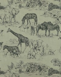Black Jungle Safari Fabric  Jungle Love 9 Graphite