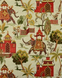 Beige Jungle Safari Fabric  Kumar 28 Verde