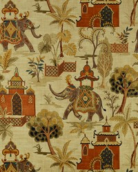 Jungle Safari Fabric  Kumar 316 Terracotta