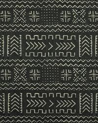 Black Novelty Western Fabric  Mazinda 99 Onyx