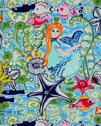 Multi Marine Life Fabric  Mermaids 100 Multi