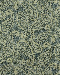 Blue Classic Paisley Fabric  Nesling 593 Indigo
