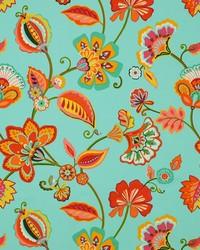 Grey Jacobean Floral Fabric  Nicola 545 Mineral