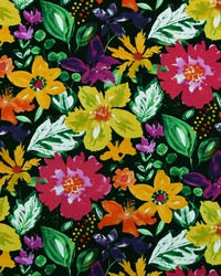 Modern Floral Designs Fabric  Okeefe 93 Jet