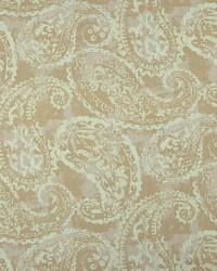 Beige Classic Paisley Fabric  Palera 196 Linen