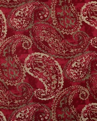 Red Classic Paisley Fabric  Palera 349 Vintage Red
