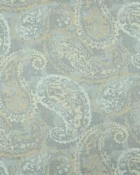 Silver Classic Paisley Fabric  Palera 90 Silver