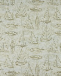 Beige Boats and Sailing Fabric  Srum Runner 196 Linen