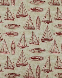 Red Boats and Sailing Fabric  Srum Runner 31 Red