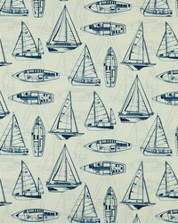 Blue Boats and Sailing Fabric  Srum Runner 55 Navy