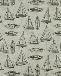 Black Boats and Sailing Fabric  Srum Runner 9 Graphite