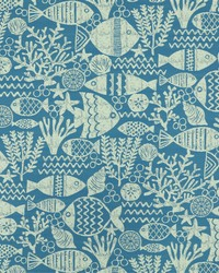 Blue Marine Life Fabric  SD aquarium 514 Ocean