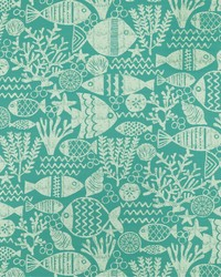 Blue Marine Life Fabric  SD aquarium 521 Aquamarine