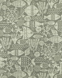 Grey Marine Life Fabric  SD aquarium 95 Dolphin