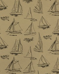 Black Boats and Sailing Fabric  SD  spindrift 936 Black  Tan
