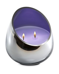 Candle - Lavender Moss Chrome Glass  by