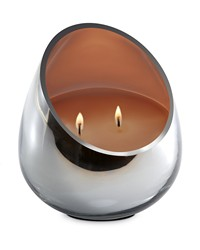 Candle - Honey Fig  Teak Chrome Glass  by